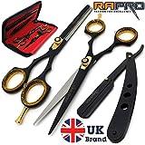RAPRO RP-SS-01 Professional Barber Haarscheren Set inkl. Barber Scheren, Stilvolle Effilierschere,...