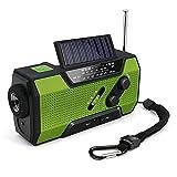 Volwco Solar Radio Kurbelradio, FM/NOAA Wetter Radio Dynamo Radio 2000mAh Handy Ladegerät Powerbank...